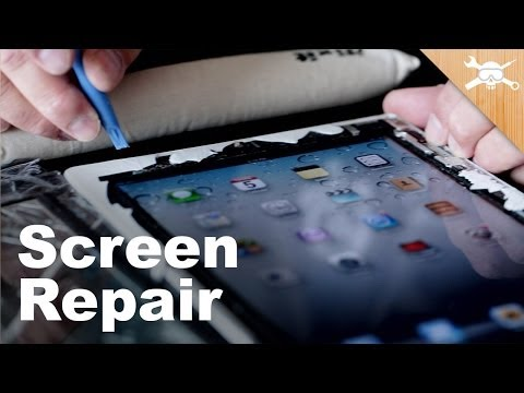 This is how we fix it, we bash away at it with a bl;ue plastic screwdriver until the iThing submits to it's inevitable screen replacement, and then we slap a new screen in, good as new.